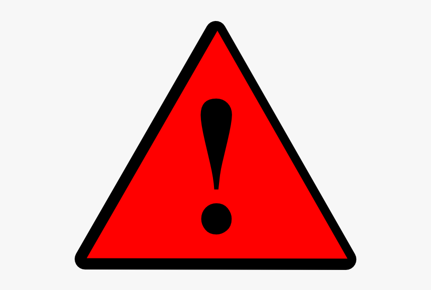 Red Warning Sign Png - Warning Light Clipart, Transparent Png, Free Download