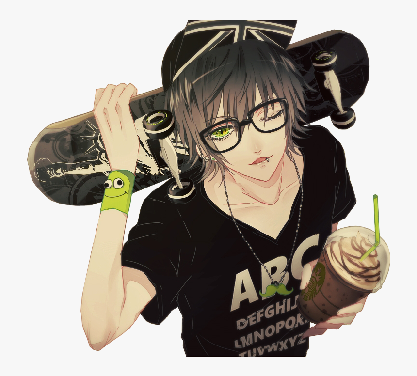 Transparent Anime Guy Png - Anime Boy With Glasses, Png Download, Free Download