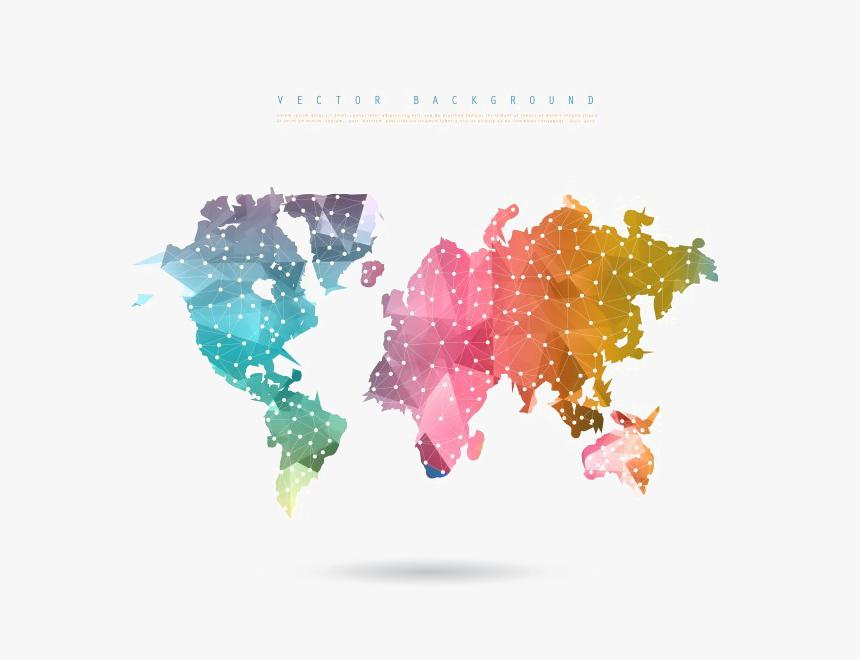 Transparent World Map Png Transparent Background - World Map Design Vector, Png Download, Free Download