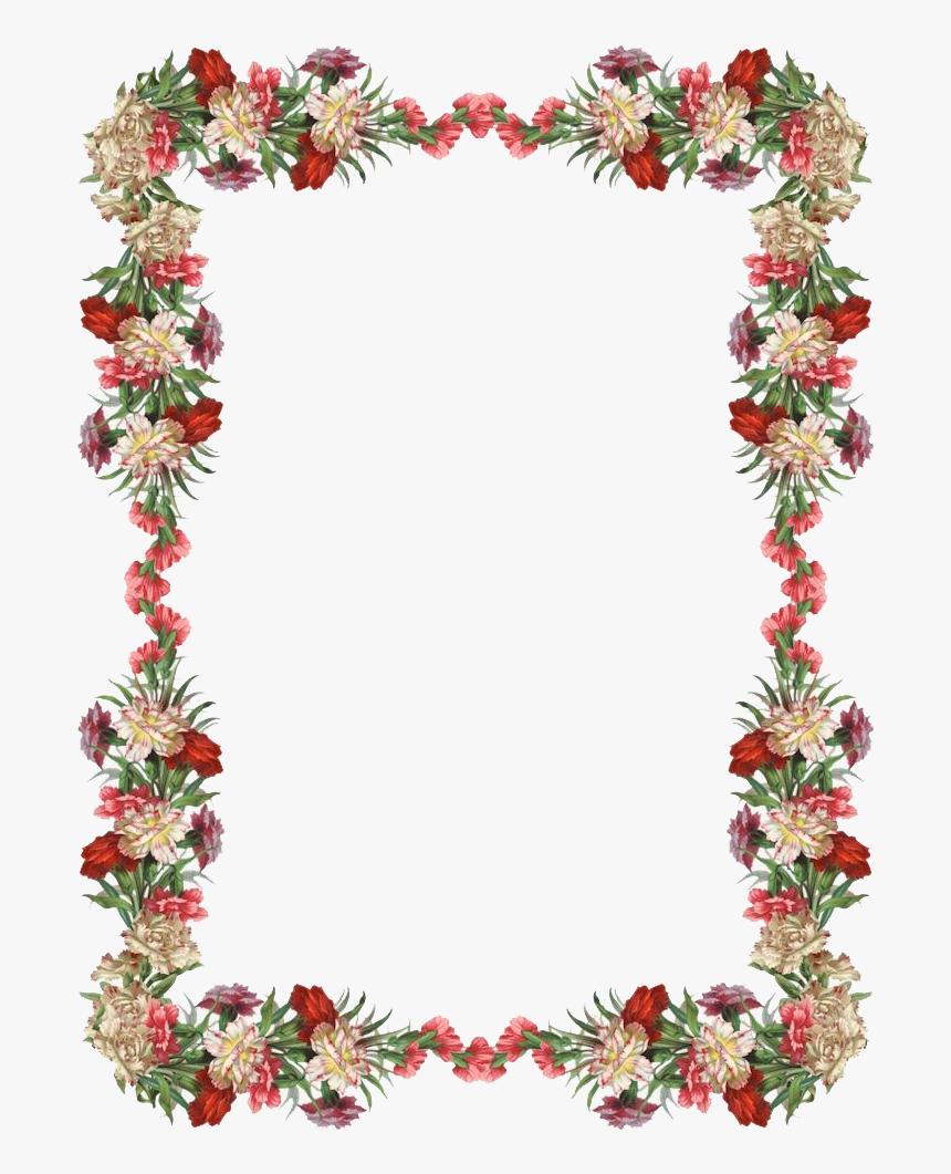 vintage floral frame transparent background frame flower border png png download kindpng vintage floral frame transparent