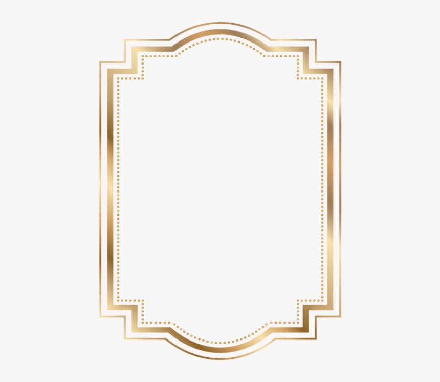 Transparent Art Deco Frame Png - Gold Frame Png Transparent, Png Download, Free Download