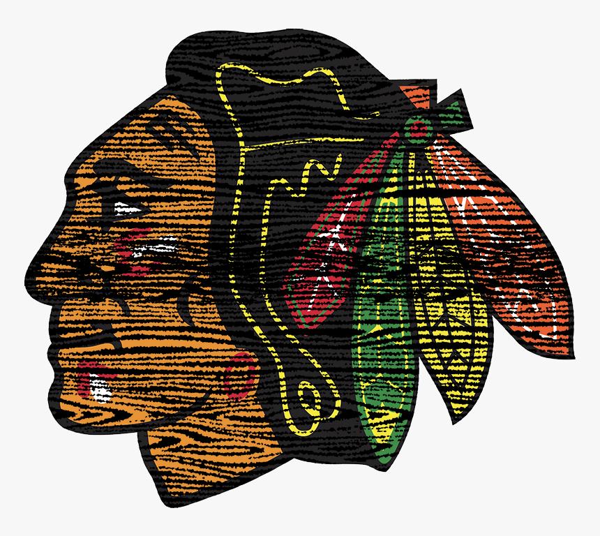 Chicago Blackhawks 1964-present Primary Logo Distressed - Chicago Blackhawks Logo Small, HD Png Download, Free Download