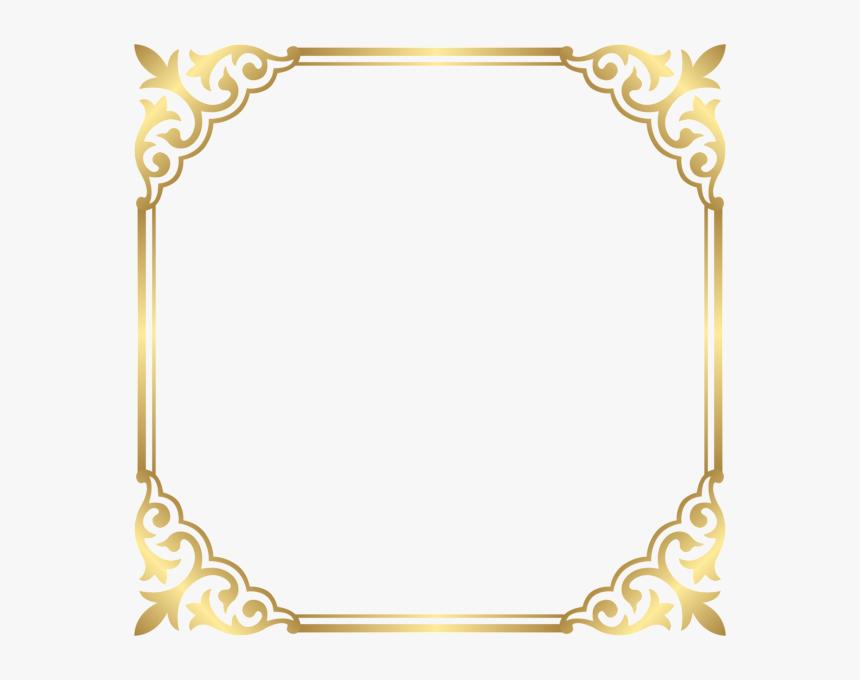 Gold Frame Border Png , Png Download - Transparent Fancy Border Png, Png Download, Free Download