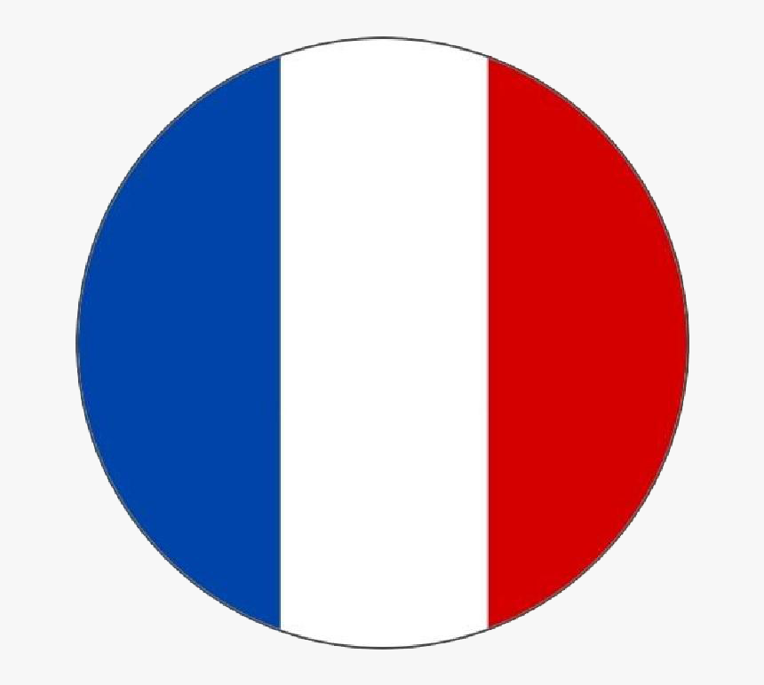 Flag Of France Language French Translation - French Flag In A Circle, HD Png Download, Free Download