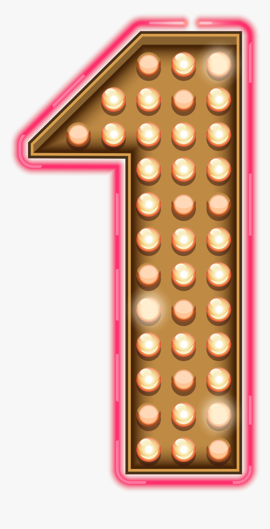 Number One Neon Lights Transparent Png Clip Art Image - Numbers Neon Lights Png, Png Download, Free Download