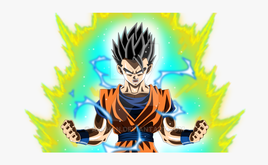 Image Transparent Gohan Rage Colored With A By Aashananimeart - Dragon Ball Anime Drawing, HD Png Download, Free Download