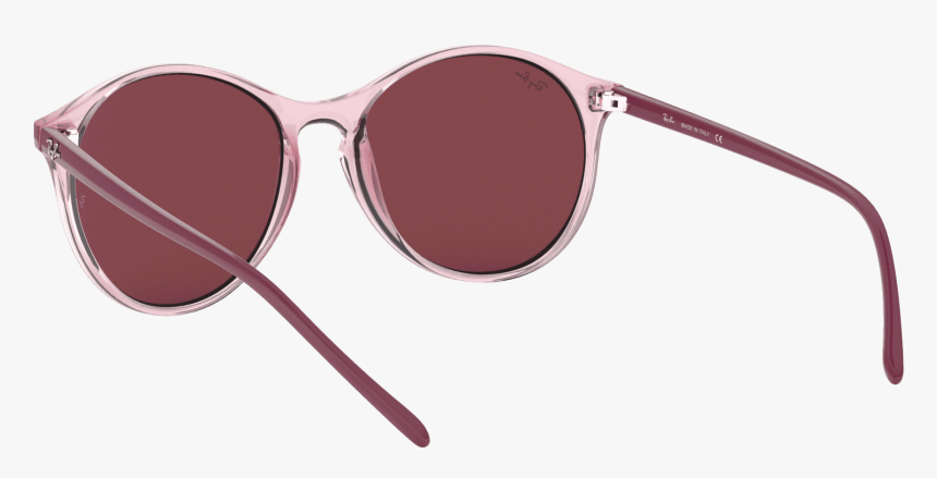 Keyhole Bridge Round Sunglasses In Transparent Pink - Sunglasses, HD Png Download, Free Download