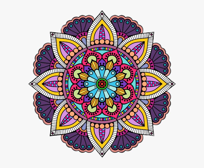 #colorful #flower #mandalas♡ #mandalaflowers - Mandala, HD Png Download, Free Download