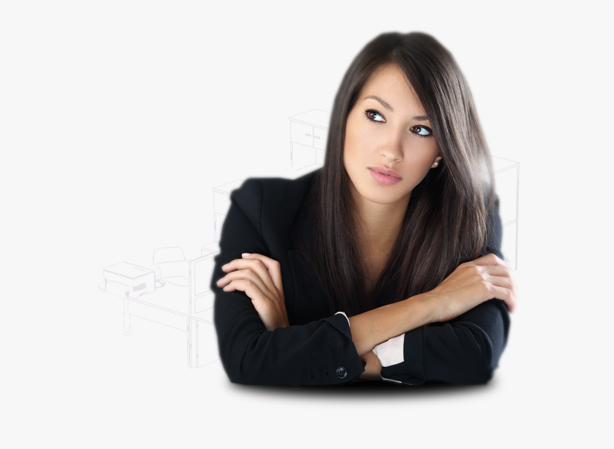 Office Woman Png - Linkedin Invitations From Scammers, Transparent Png, Free Download