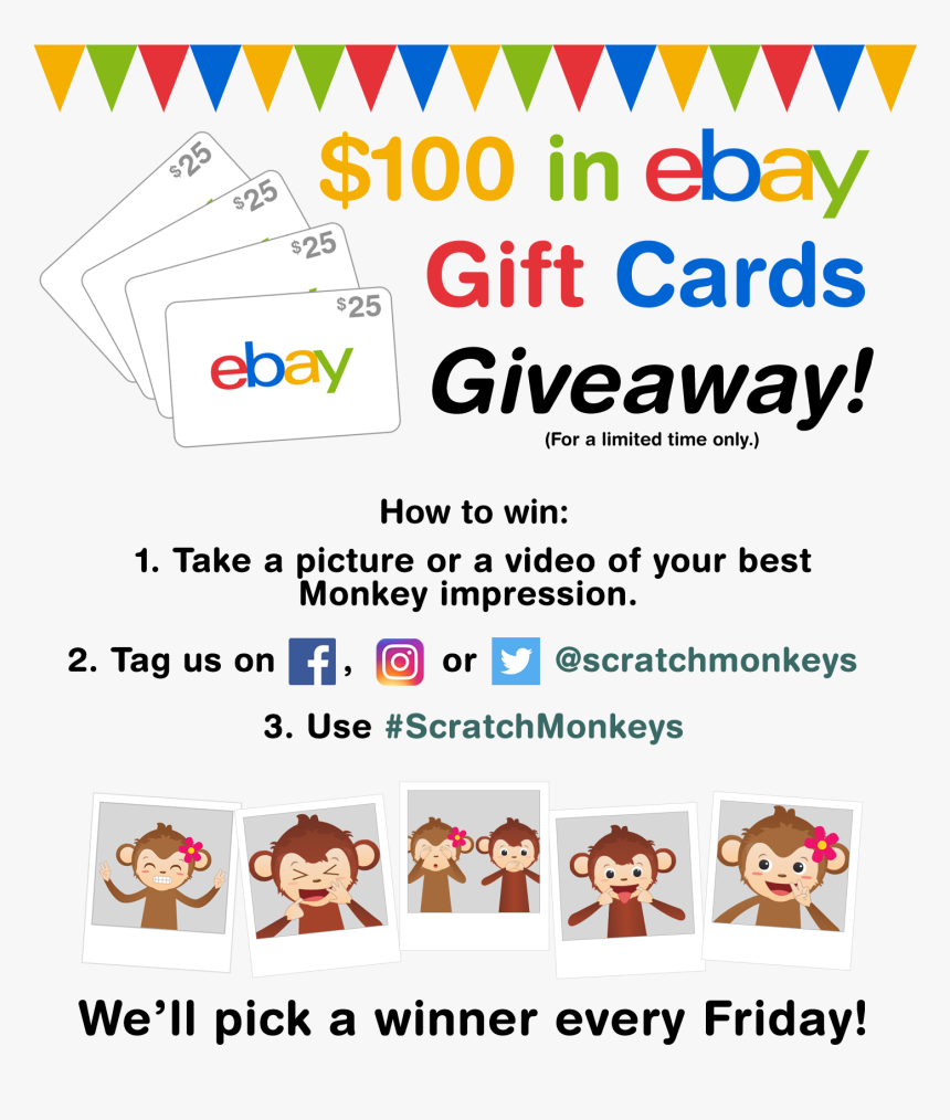 Ebay E Gift Cards Giveaway Hd Png Download Kindpng