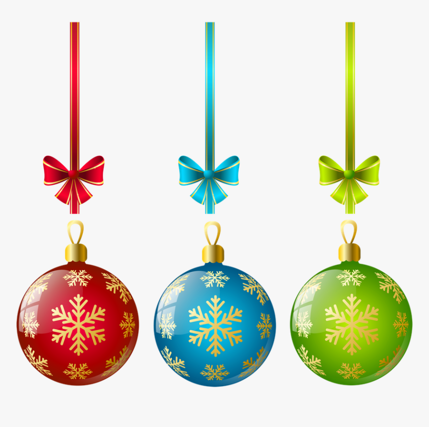 Christmas Tree Ornaments Transparent, HD Png Download, Free Download