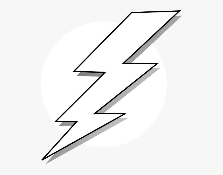 Black And White Lightning Bolt Hd Png Download Kindpng