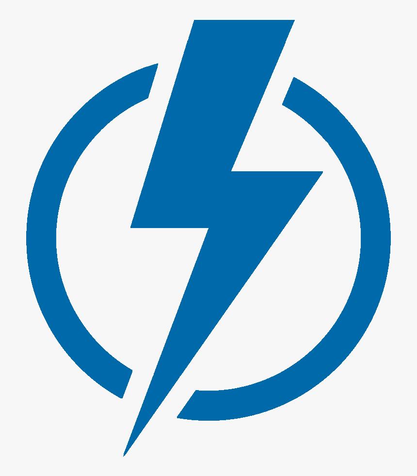 Blue Lightning Bolt Symbol, HD Png Download, Free Download