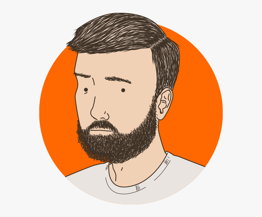 Cartoon With Moustache And Beard - Cartoon Boy With Neatly Trimmed Hair, HD Png Download, Free Download