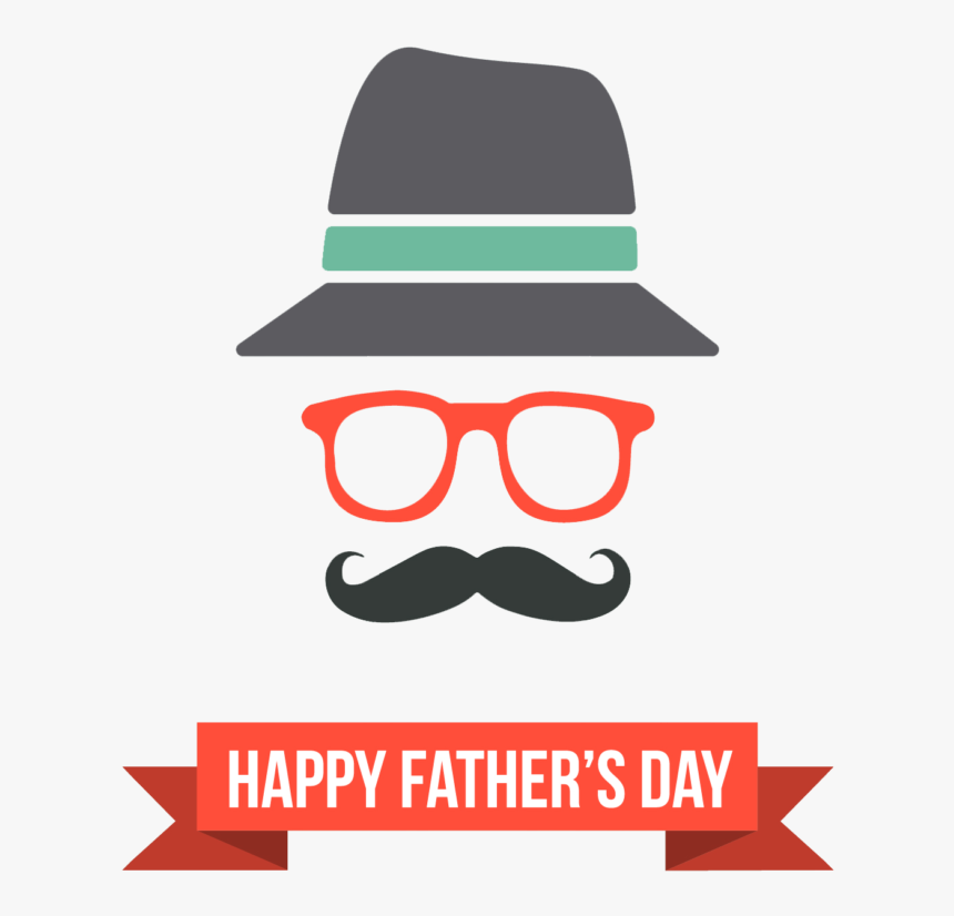 Transparent Mustache Clipart - Fathers Day Design In Png, Png Download, Free Download