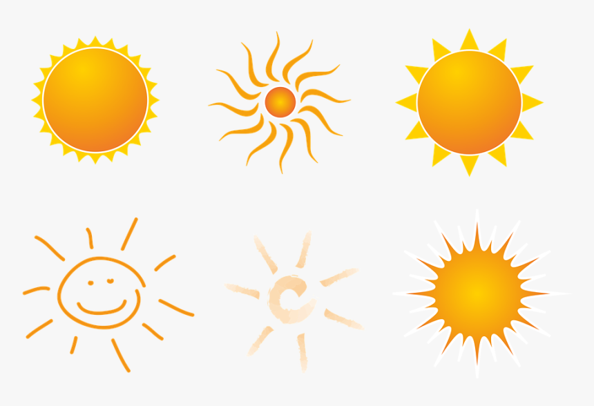 Transparent Sunset Clip Art - Sun With 12 Rays, HD Png Download, Free Download