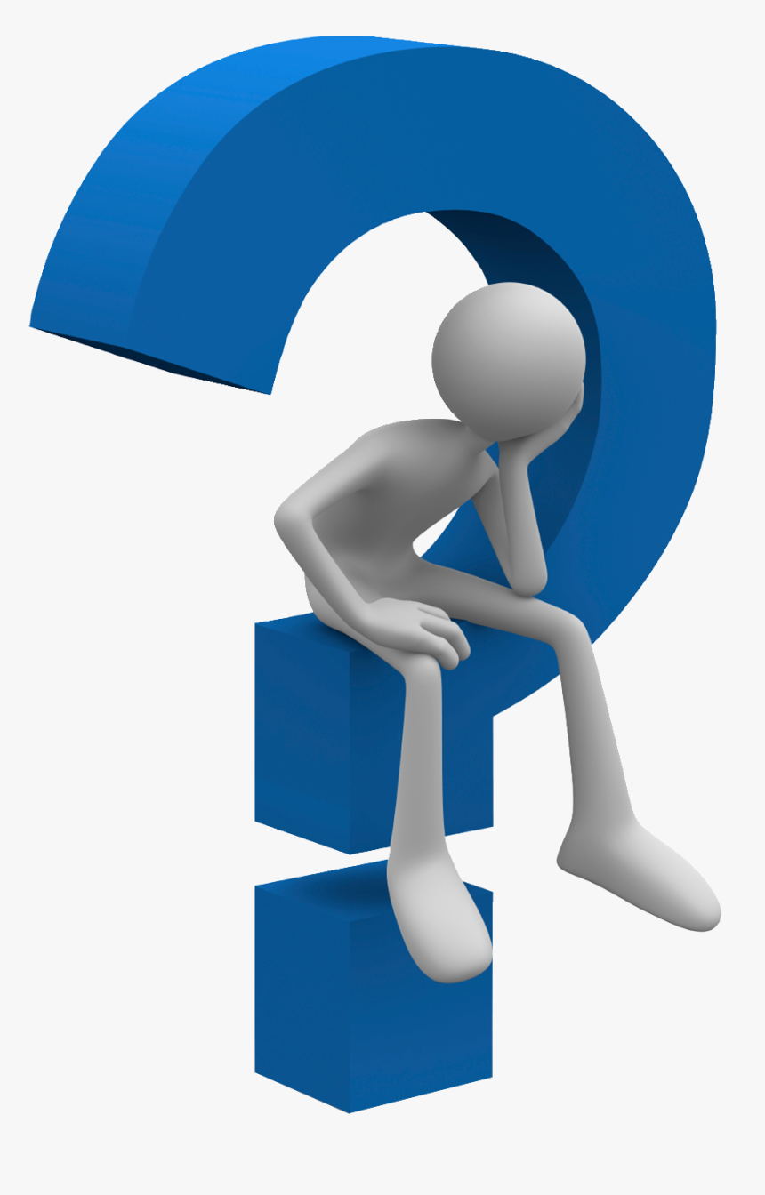 Question Mark Bracket Clip Art - Man Sitting On Question Mark, HD Png  Download - kindpng