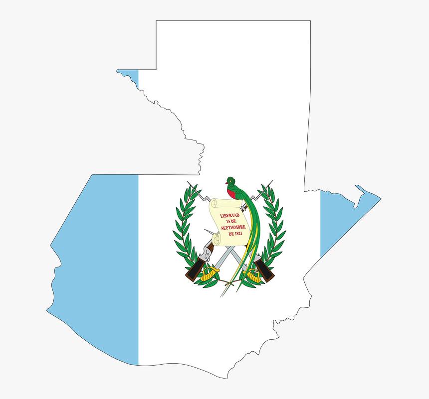 Guatemala Map Flag - Puerto Rico And Guatemala Flag, HD Png Download, Free Download