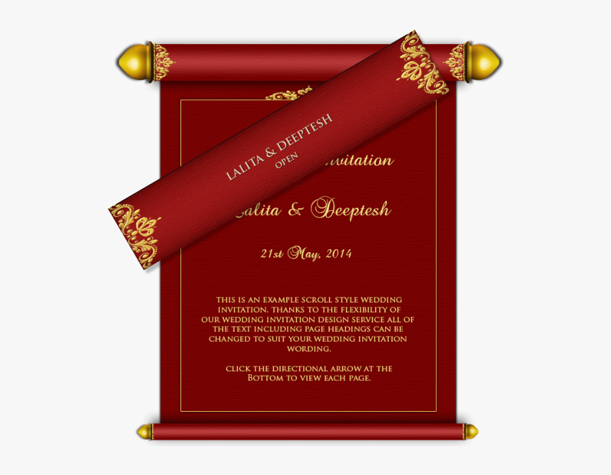 Transparent Marriage Card Clipart Indian Marriage