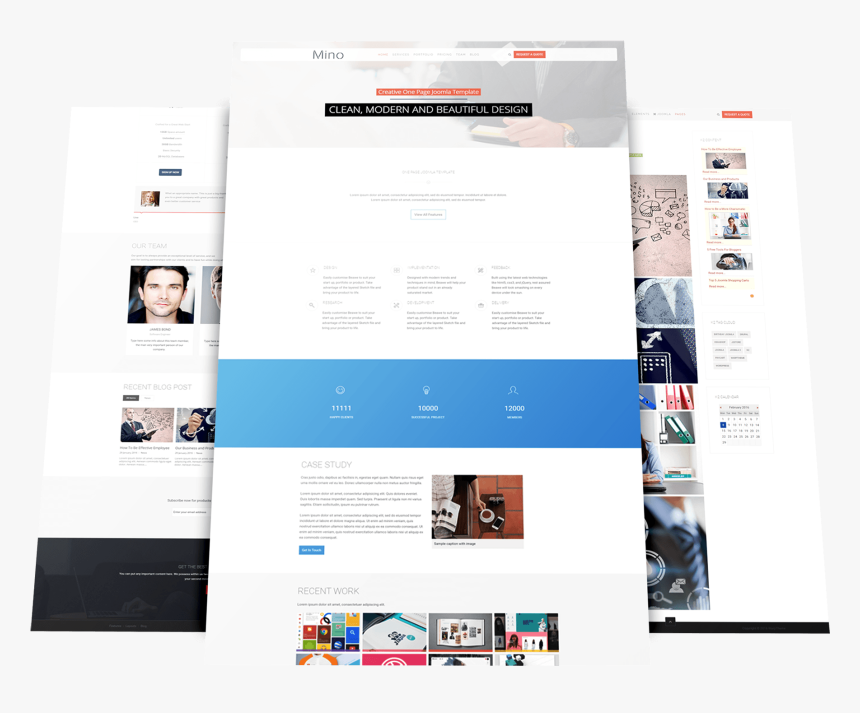 One Page Joomla Template Website Company Profile Design Template Hd Png Download Kindpng