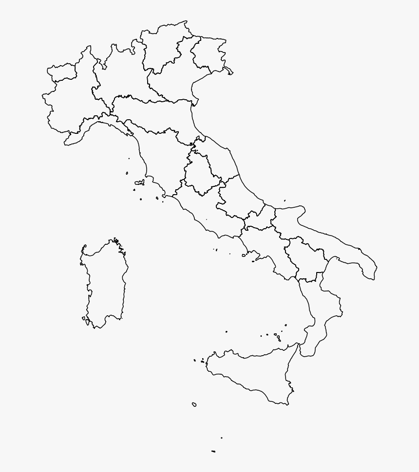 Maps Vector Trail - Italy Map Outline Regions, HD Png Download, Free Download
