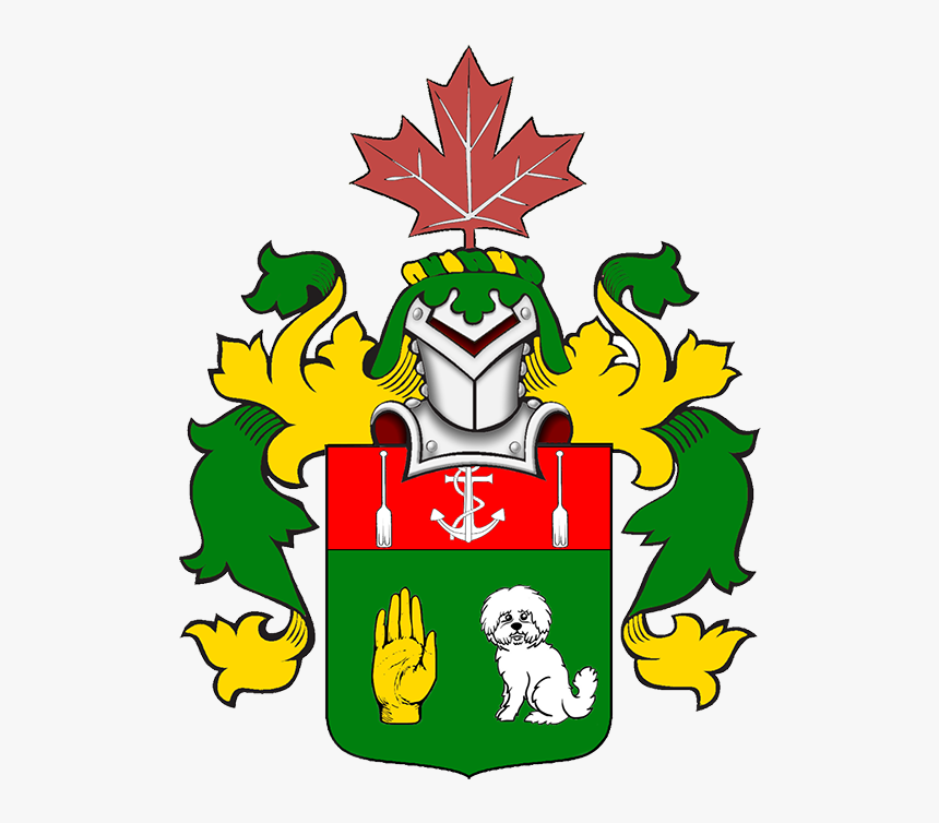 Armorial Achievement For Brian Mino - Maple Leaf Canada Day Drawing, HD Png Download, Free Download