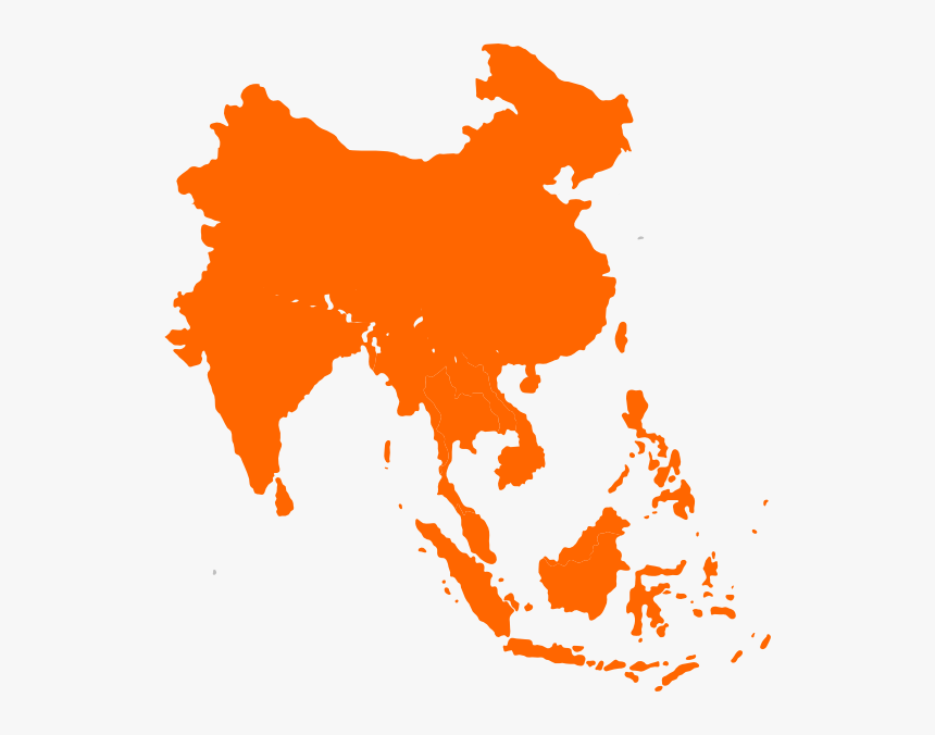 Asia Vector Transparent - Southeast Asia Vector Map, HD Png Download, Free Download