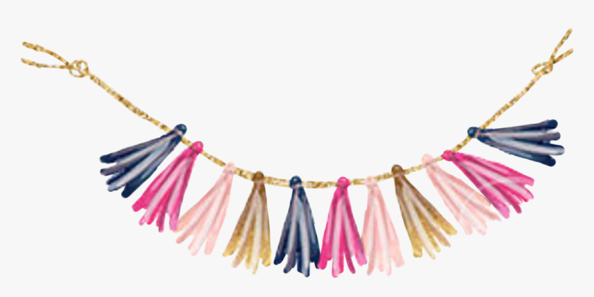 #watercolor #tassle #garland #banner #pennant #flags - Watercolor Flag Banner Clipart, HD Png Download, Free Download