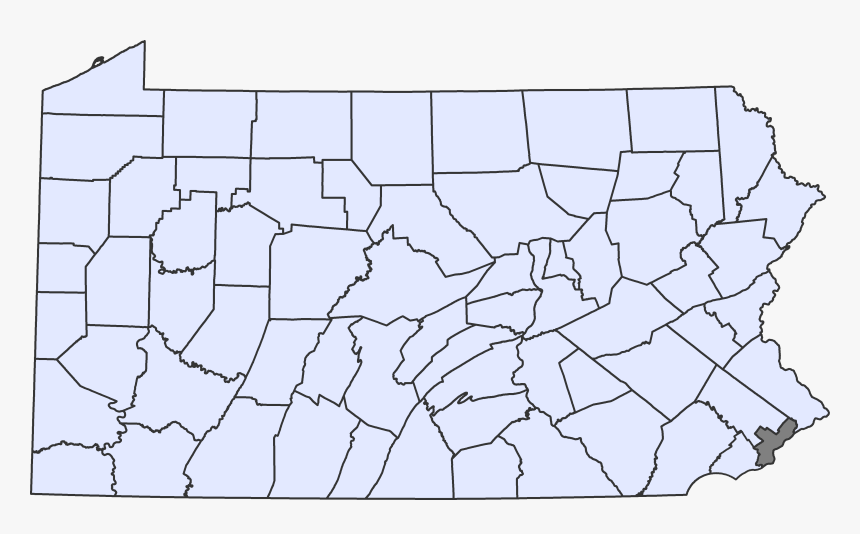 Map - Blank Pennsylvania County Map, HD Png Download, Free Download