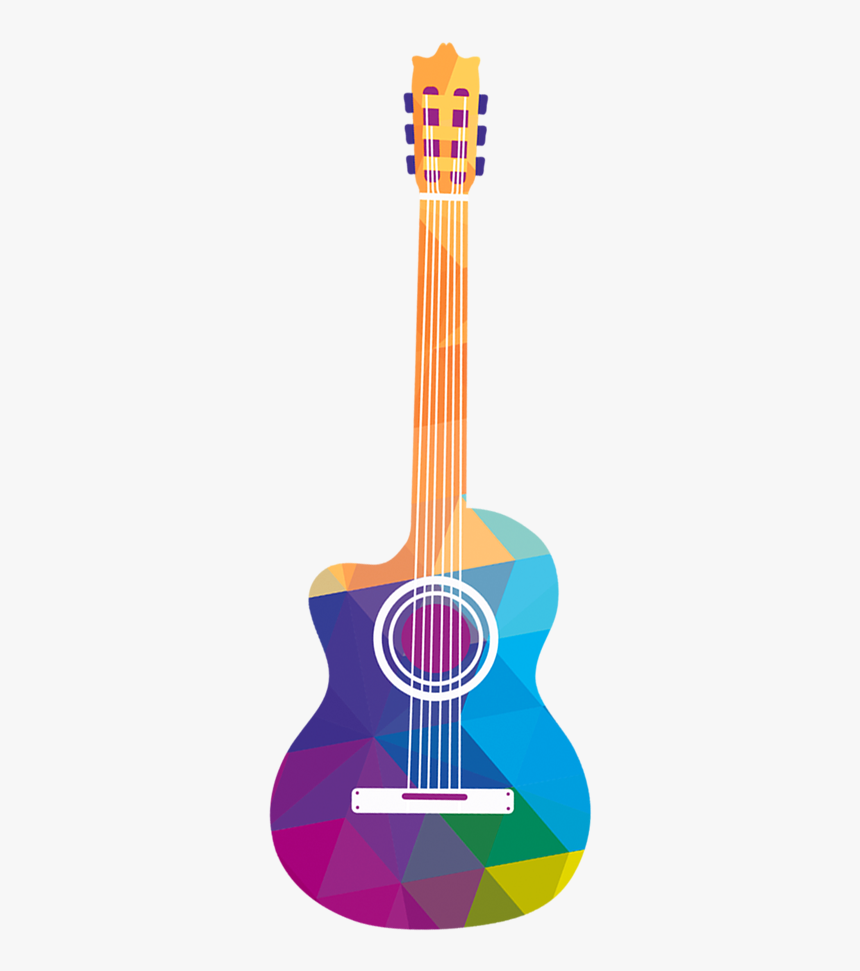 Cuatro Tiple Ukulele Guitar Acoustic Hand Painted Clipart Free Png Acoustic Guitar Transparent Png Kindpng