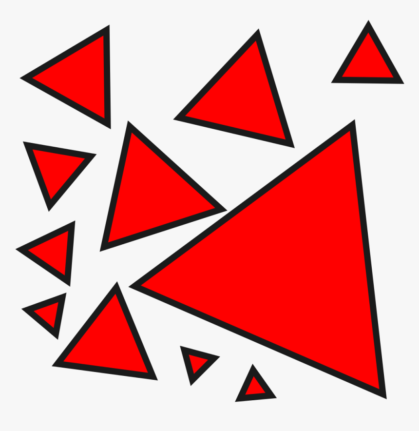 Transparent Red Triangle Png - Red Triangles Png, Png Download, Free Download