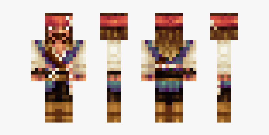 Skin De Jack Sparrow Para Minecraft, HD Png Download, Free Download