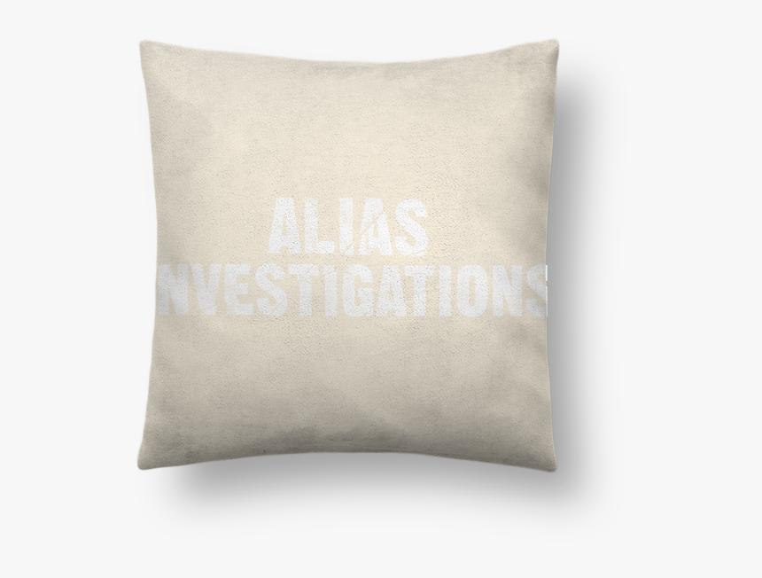 Coussin Toucher Peau De Pêche 41 X 41 Cm Alias Investigation - Throw Pillow, HD Png Download, Free Download