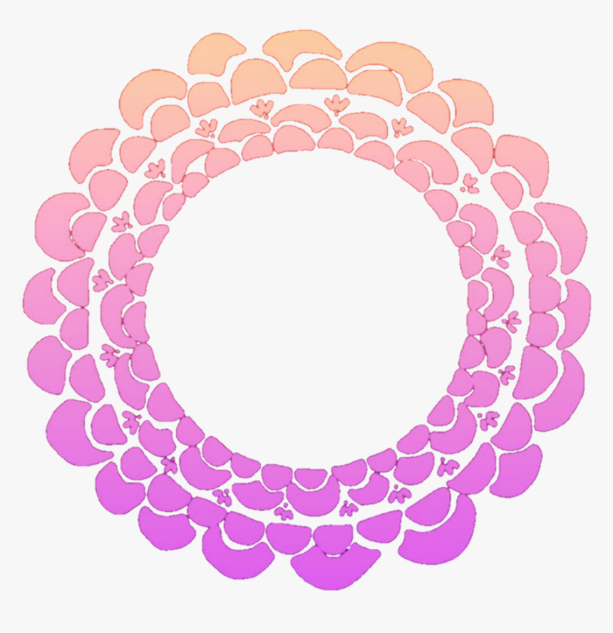 #flower #flowers #floral #round #wreath #frame #colourful - Round Floral Design Png, Transparent Png, Free Download
