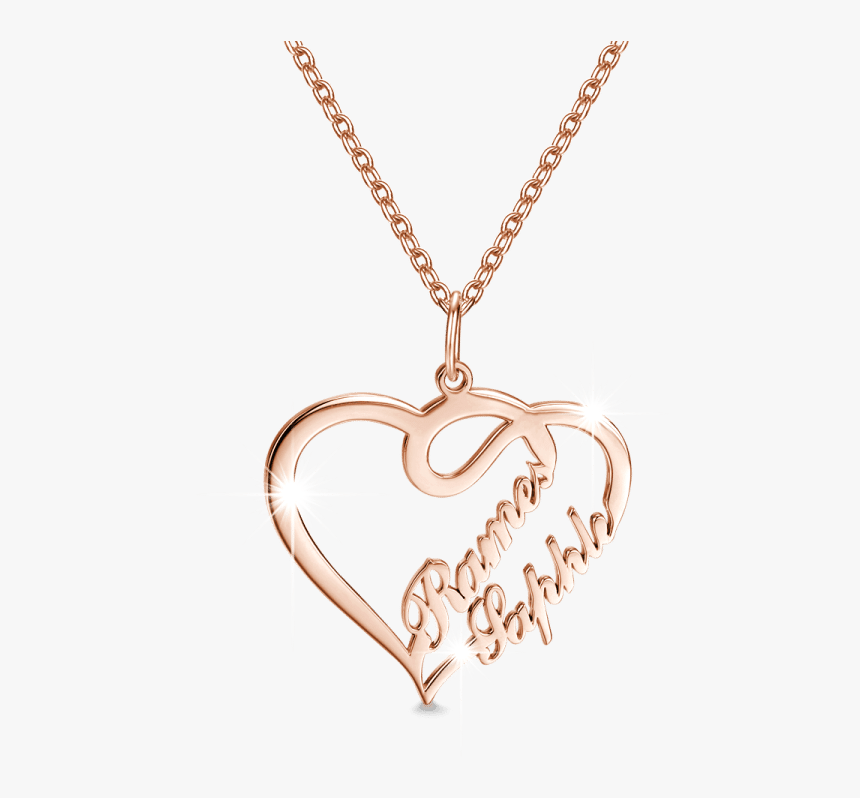 Gold Chain With Love Locket, HD Png Download, Free Download