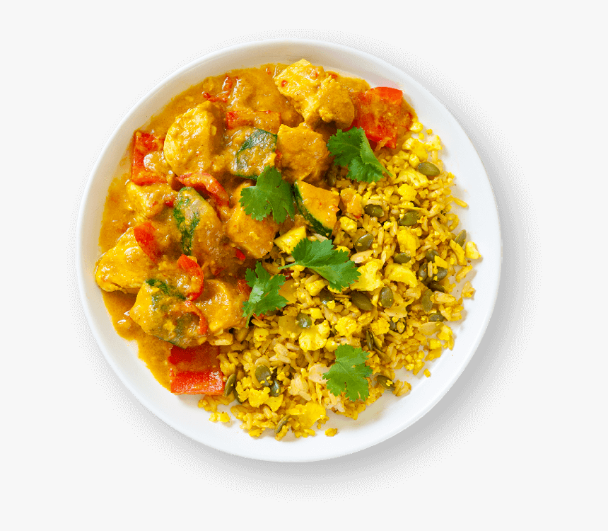 Yellow Chicken Curry With Spiced Cauliflower Rice - Yellow Curry, HD Png Download, Free Download