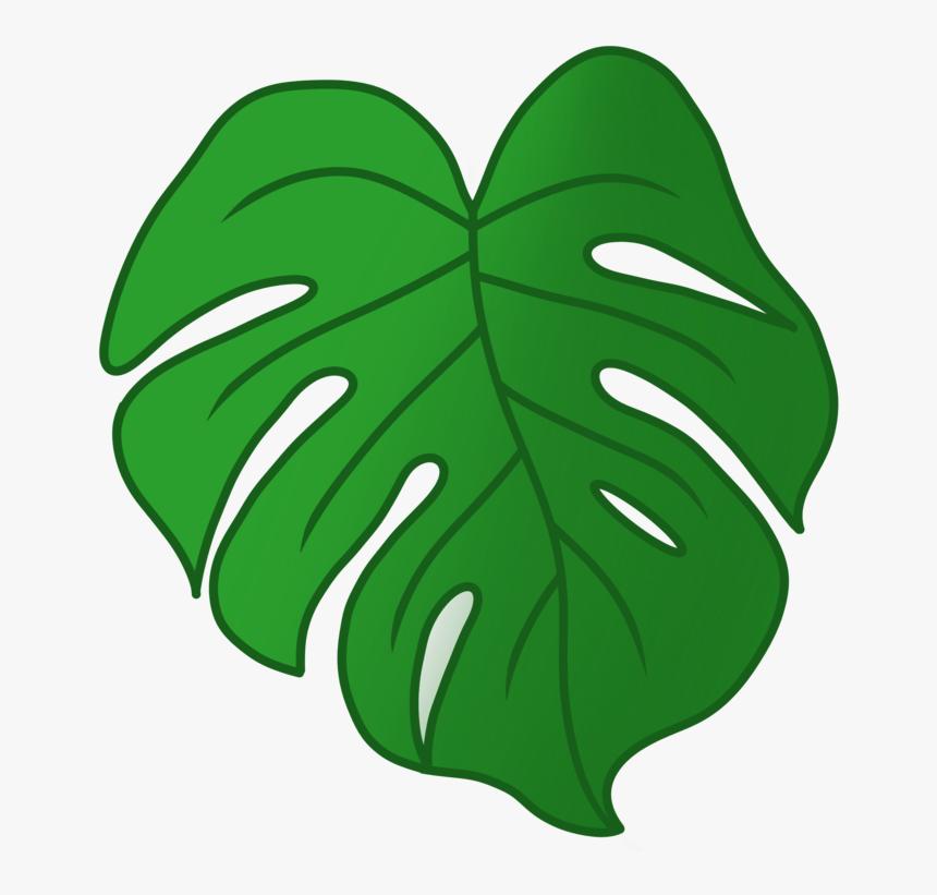 Our Draft Monstera Leaf Emoji, Designed By Jessie East - Monstera Emoji, HD Png Download, Free Download