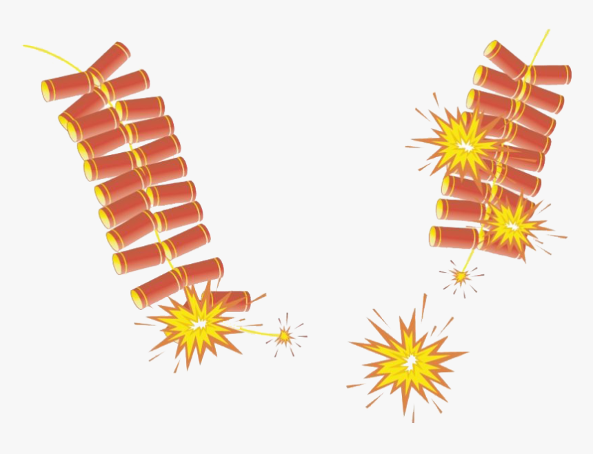 Firecrackers Transparent - Frame Happy Chinese New Year, HD Png Download, Free Download