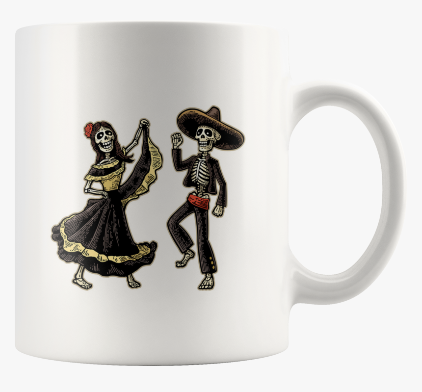 Day Of The Dead Dancing Couple 11oz Mug - Day Of The Day Dead Cartoon Dancer, HD Png Download, Free Download