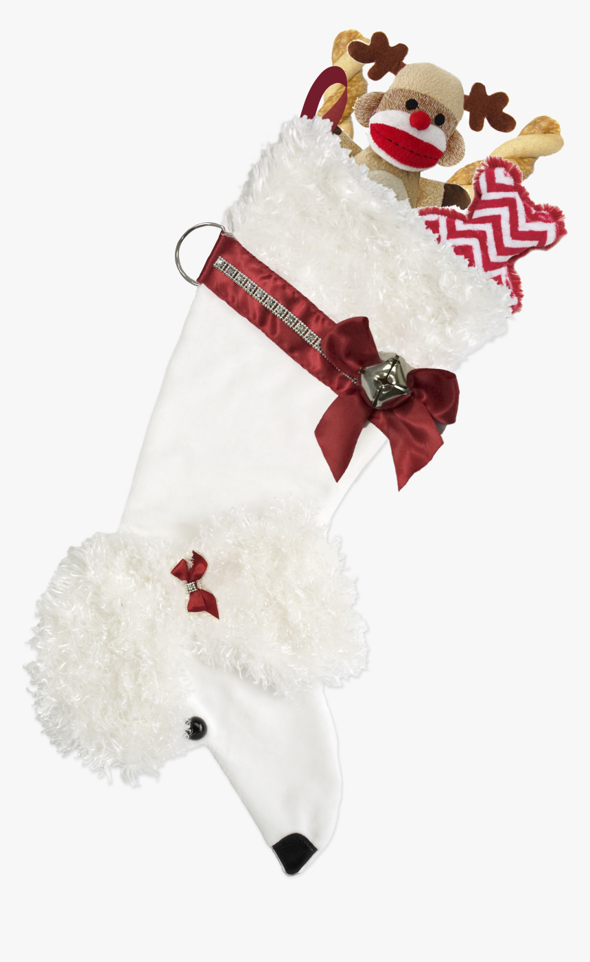 Dog Shaped Christmas Stocking, HD Png Download, Free Download