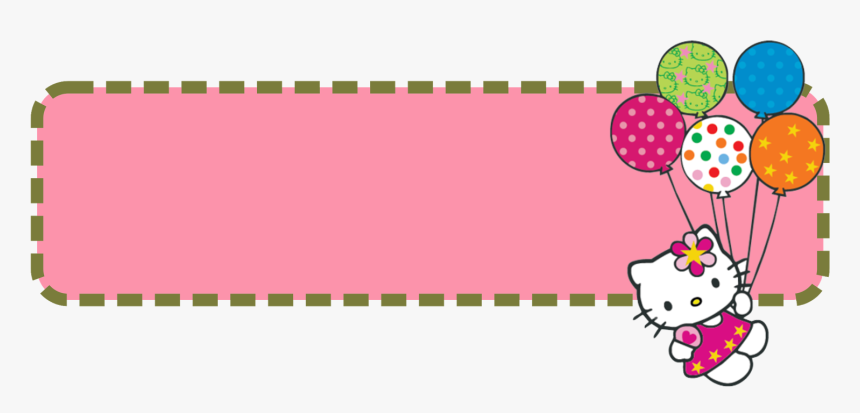 Hello Kitty Banner Template - Frame Hello Kitty Png, Transparent Png, Free Download