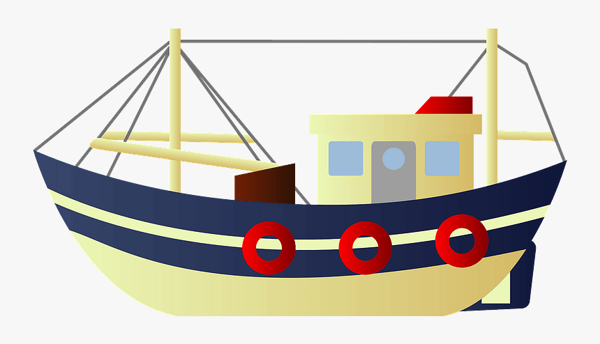 Fishing Boat Clipart - Boat, HD Png Download, Free Download