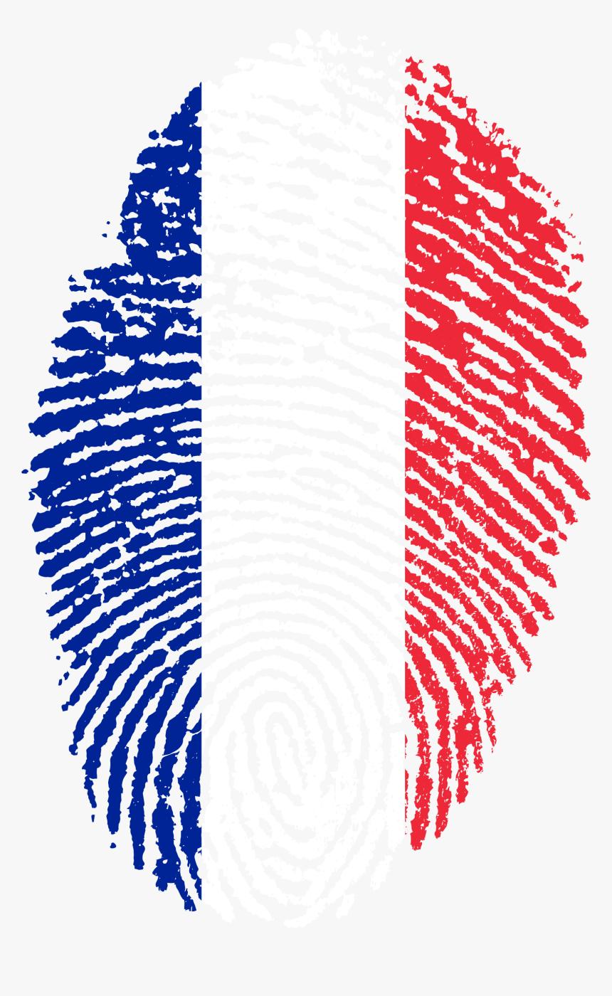 France Flag Fingerprint Country - France Flag Fingerprint, HD Png Download, Free Download