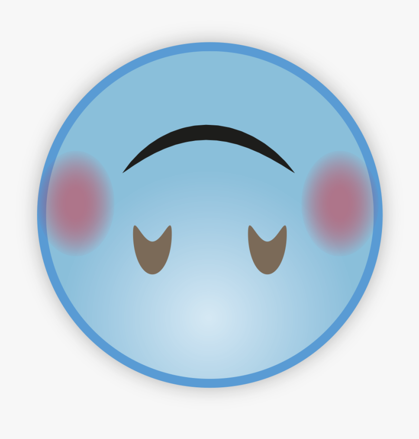 Cute Sky Blue Emoji Png Pic - Circle, Transparent Png, Free Download