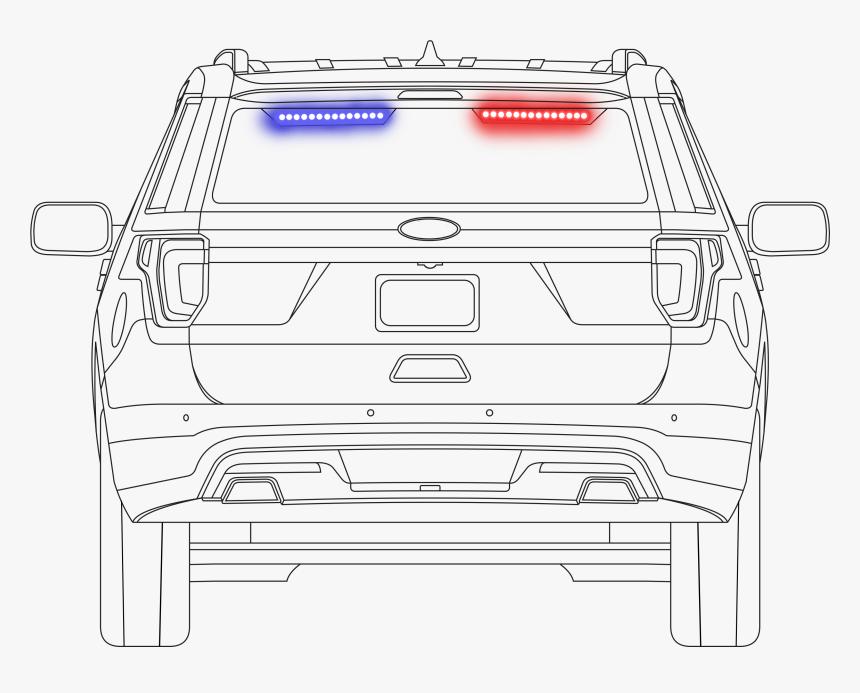 Car Outline-rear Visor - Car, HD Png Download, Free Download