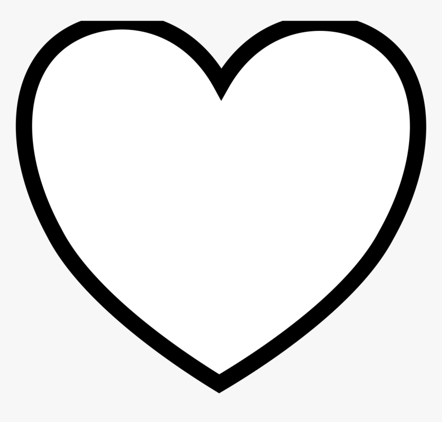 Coloring Page Of A Heart - Transparent Heart Png White, Png Download, Free Download