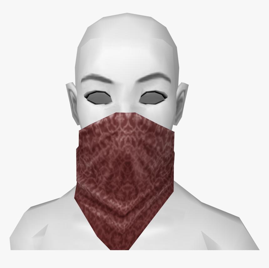 Red Bandana Mask - Blue Bandana Face Mask, HD Png Download, Free Download