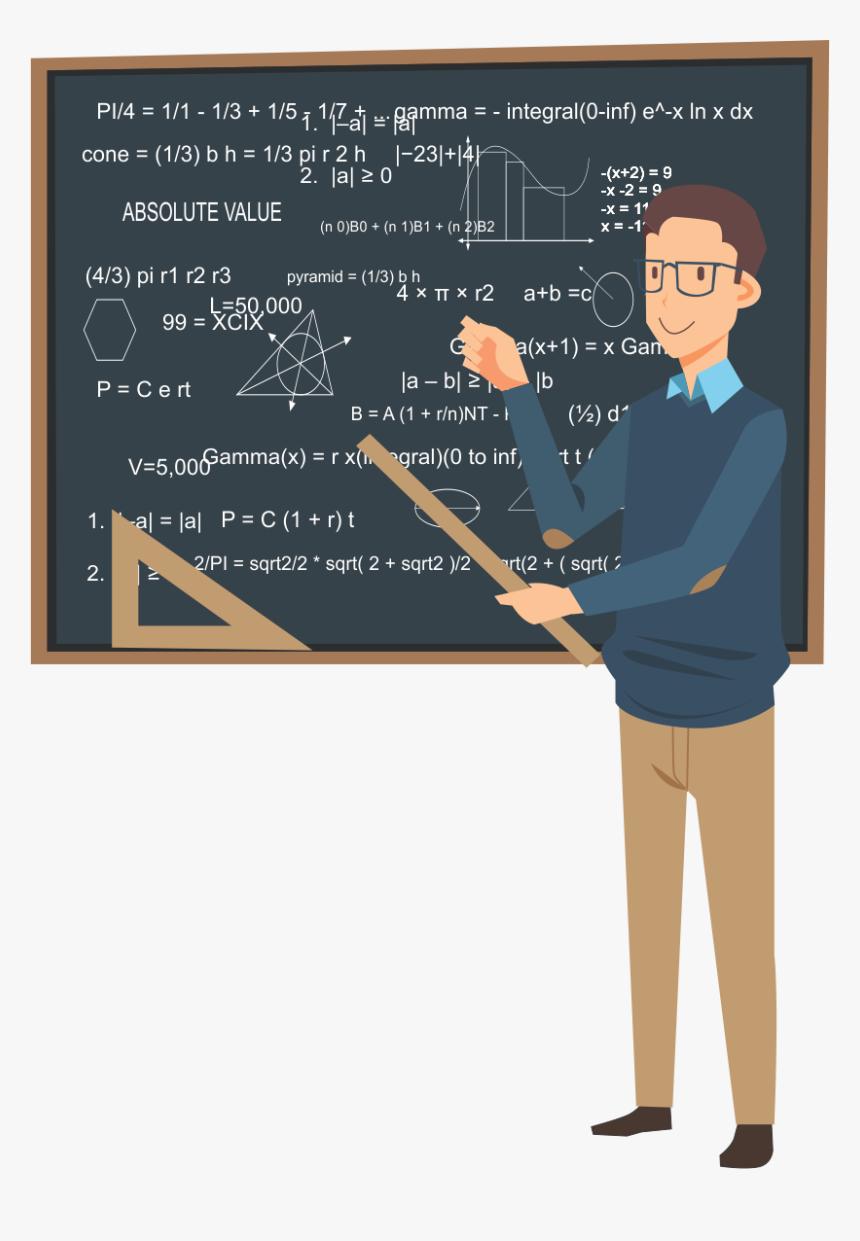 Maths Teacher Blackboard Vector - Mathematic Teacher Png, Transparent Png, Free Download