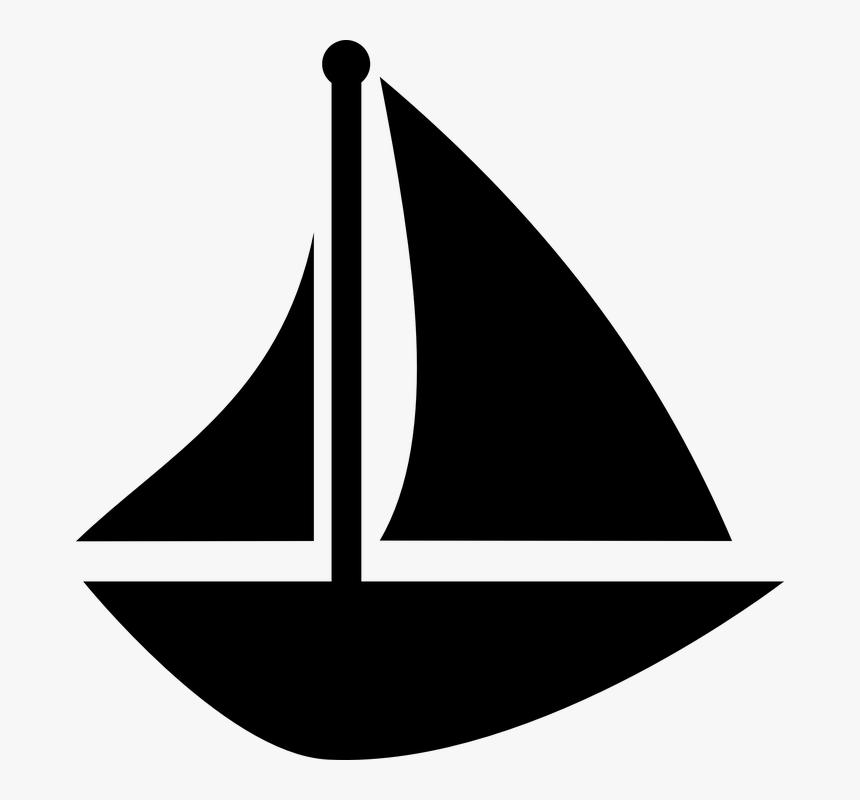 Boat, Sail, Sailboat, Schooner, Sea, Ship, Ocean, Water - Sail Boat Vector, HD Png Download, Free Download