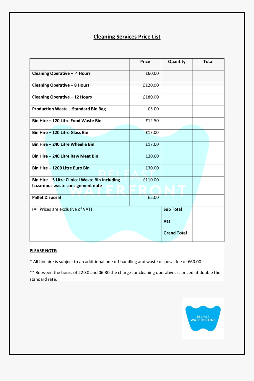 Clip Art Free Cleaning Templates At - Price List For Cleaning Services Near Me, HD Png Download, Free Download
